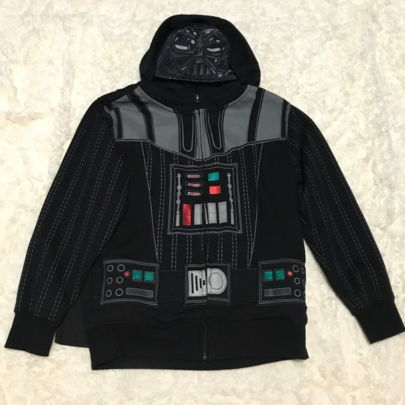 Toddler Star Wars Darth Vader Hoodie Jacket with Cape Size 12 M